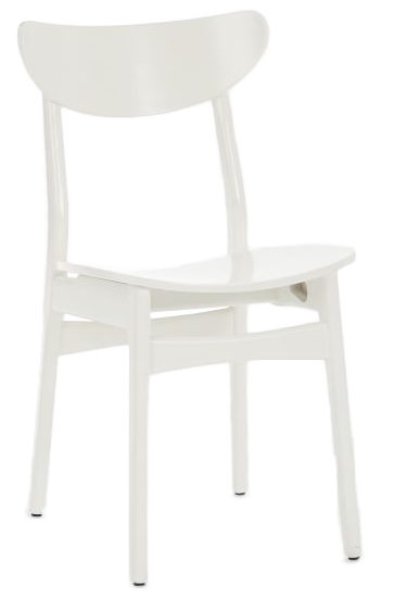 Classic Cafe Lacquer Dining Chair White Lacquer Individual Decorist