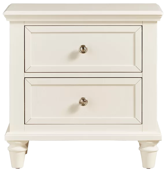Rae 2 Drawer Nightstand Off White Decorist