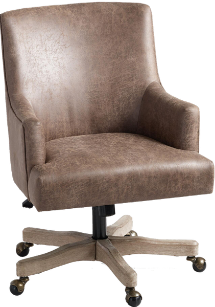 Brown Faux Leather James Upholstered Office Chair Decorist