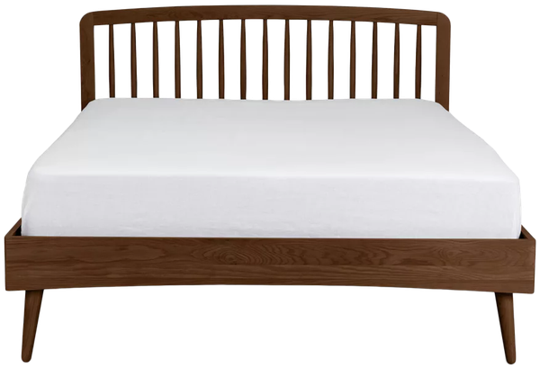 Culla Spindle Walnut Queen Bed Decorist, Walnut Spindle Bed Queen