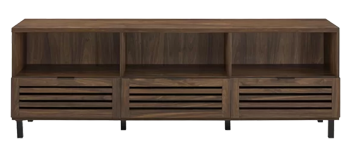 Nena Tv Stand For Tvs Up To 75 Dark Walnut Decorist