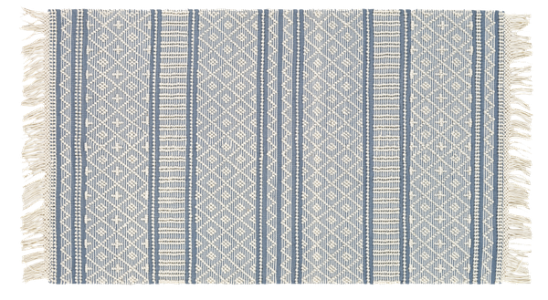 "Elian Rug, Denim | 8""x10"" 