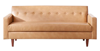 Sydney Recycled Leather Sofa Brown