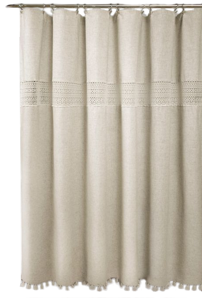 Delilah Lace 72 Inch X 84 Shower Curtain In Neutral