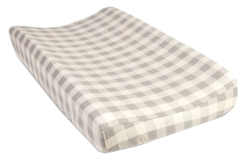 Trend Lab Buffalo Check Flannel Changing Pad Cover In Grey Decorist