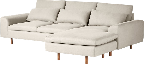 mirren reversible chaise sectional belgian linen in natural wood in landon