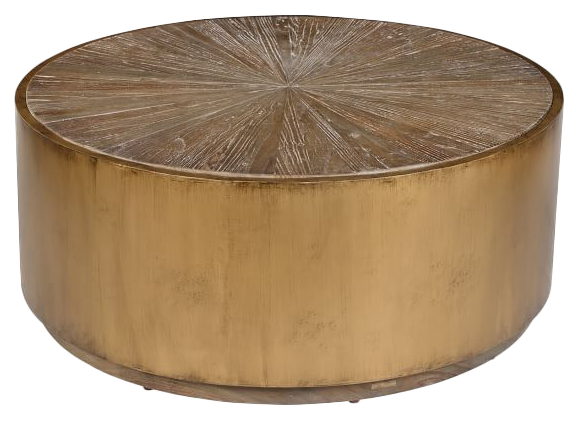 Awe Inspiring Brockton Metal Wrapped Coffee Table Antique Gold Bralicious Painted Fabric Chair Ideas Braliciousco