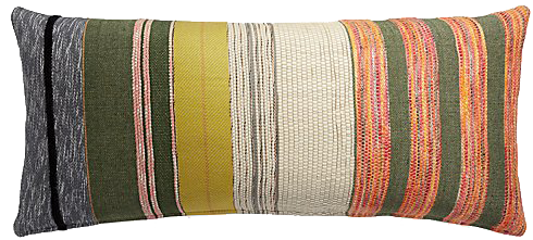Carreno Multicolored Lumbar Pillow With Feather Down Insert 36 X16 Decorist