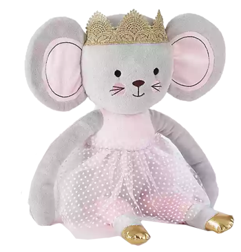 Levtex Baby Elise Plush Princess Mouse Toy In Grey Pink Decorist