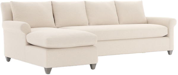 Cortina 2 Piece Left Arm Chaise Sectional Taft Pearl Smoke Legs Natural Lee Bench Seat Decorist