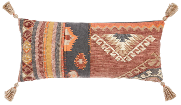 Oversized Kilim Rug Indoor Outdoor Claudine Lumbar Pillow Decorist