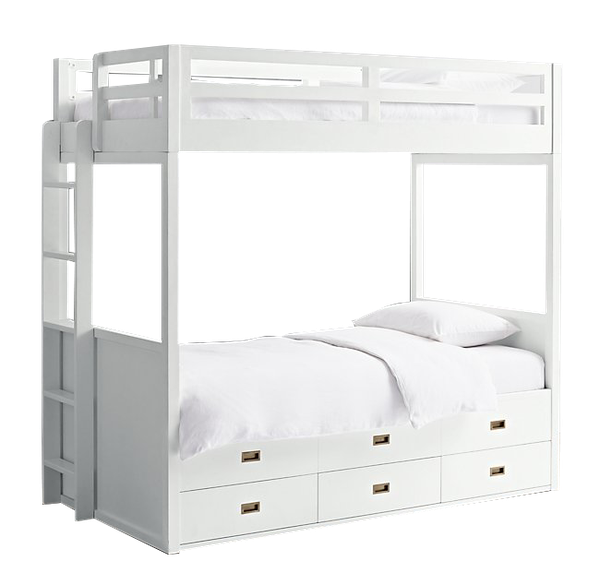 Avalon Storage Bunk Bed Waxed White Twin Over Twin Decorist