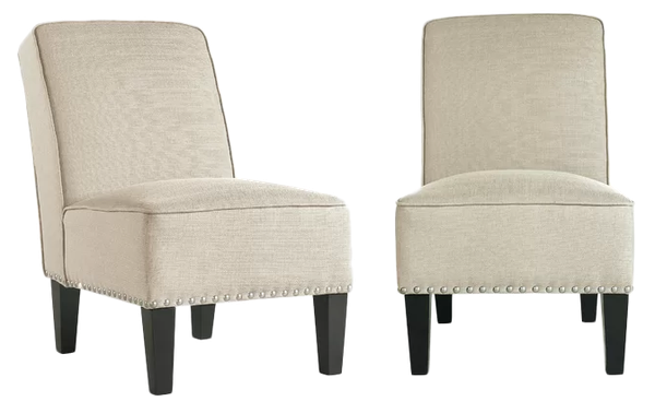 Ferebee 22 5 Slipper Chair Set Of 2 Creamy Tan Oatmeal Linen Decorist