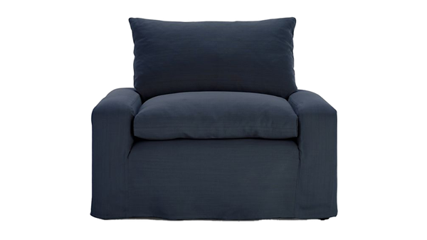 Shelter 2 Piece Terminal Chaise Sectional | Yarn Dyed Linen