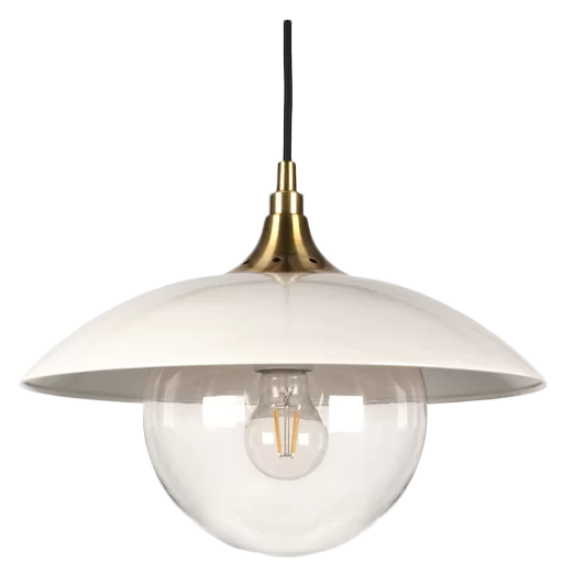 1 Light Single Dome Pendant Pearled Decorist