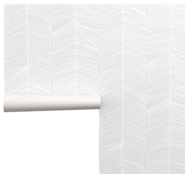 Deckland Chevron Removable Peel And Stick Wallpaper Panel 108 X24 Decorist