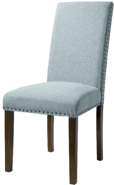 Ramet Linen Parsons Chair Set Of 2 Blue Decorist