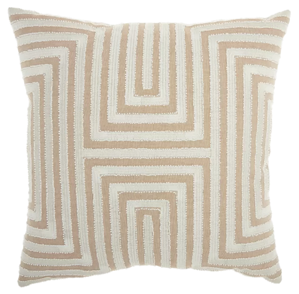 Jord Cotton Geometric Throw Pillow Decorist