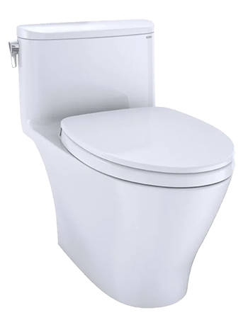 Toto Nexus 1 28 Gpf One Piece Elongated Chair Height Toilet With Tornado Flush Technology Seat Included Colonial White Decorist