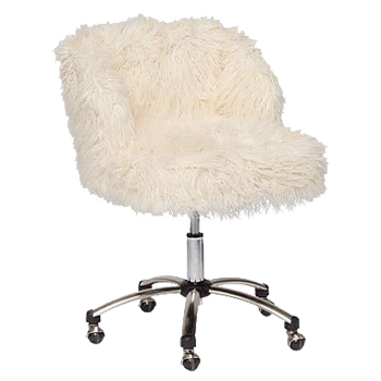 ivory furlicious wingback desk chair | decorist