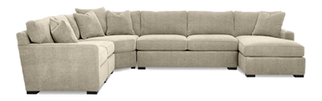 Radley 5-Piece Fabric Chaise Sectional Sofa
