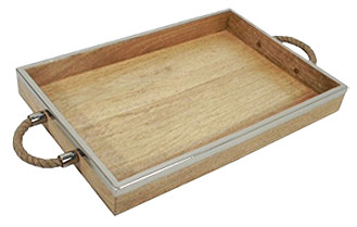 Threshold Decorative Wooden Tray With