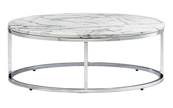 Smart Round Marble Top Coffee Table Decorist - Cb2 tux coffee table