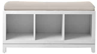 Outstanding Campaign Storage Bench Sand Evergreenethics Interior Chair Design Evergreenethicsorg