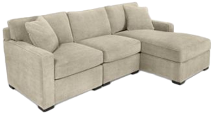 Radley 3 Piece Fabric Chaise Sectional Sofa