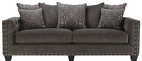 Cindy crawford home sidney road gray sofa www Sidney road taupe living room collection