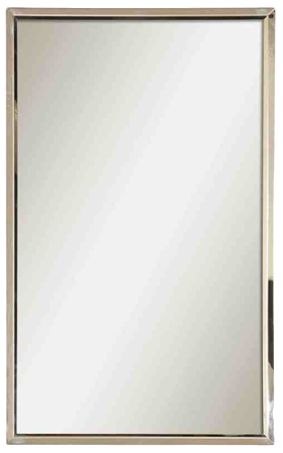 Style Selections Polished Stainless Steel Rectangle Framed Wall Mirror Decorist