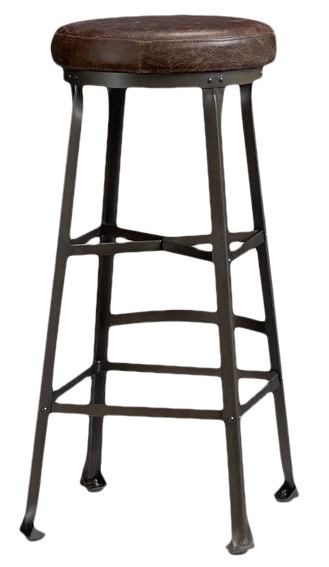 Decker Leather Seat Barstool Chocolate