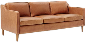 Hamilton Leather Sofa 81 Sienna