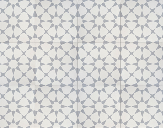 Pack of 12 medina grey and white handmade cement and for Handmade cement tiles