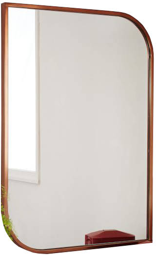 Metal Framed Wall Mirror - Rose Gold | Decorist