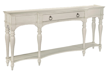 Sabine Console Table Joss And Main Wood And Metal Antique Bisque And White    Decorist