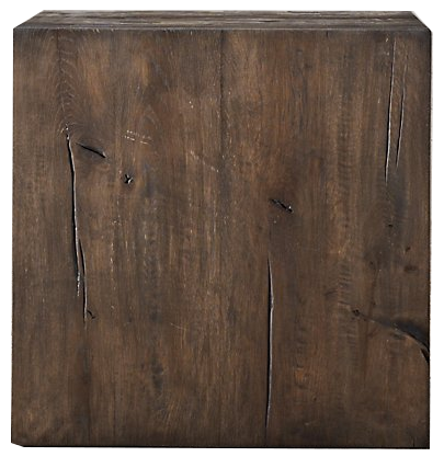 Reclaimed Russian Oak Parsons Cube Reclaimed Brown Oak Decorist