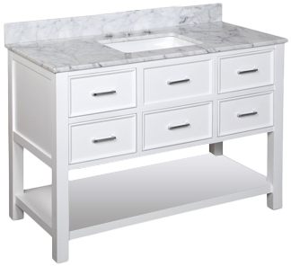 Kbc New Hampshire 48 Single Bathroom Vanity Set Decorist