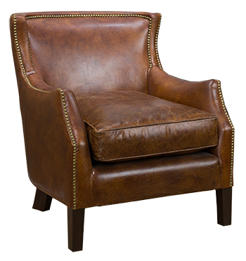Christopher Knight Home Tillo Top Grain Vintage Brown Leather Club Chair |  Decorist