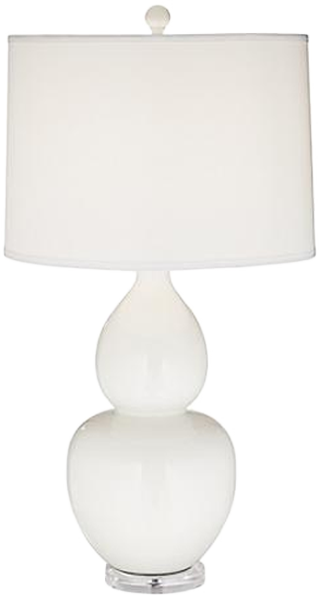 Contempo White Double Gourd Ceramic Table Lamp Decorist