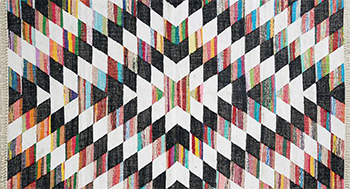 Black And White Zig Zag Rug Urban Outfitters