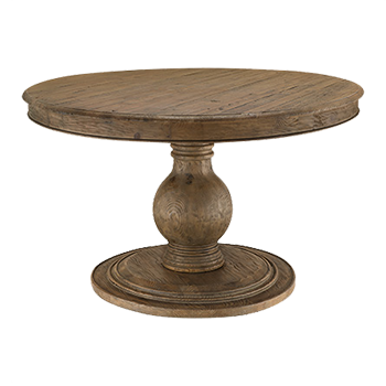 Lara 60 Round Pedestal Dining Table In, 60 Round Pedestal Dining Table With Leaf
