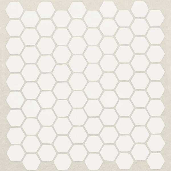 American Olean Satinglo Hex 10 Pack Ice White Honeycomb Mosaic