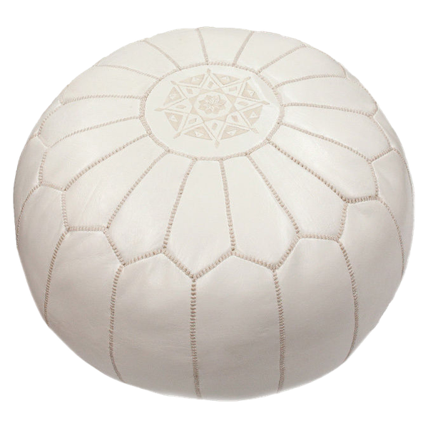 NuLOOM Handmade Casual Living Leather Moroccan Ottoman Pouf Decorist Fascinating Nuloom Moroccan Pouf