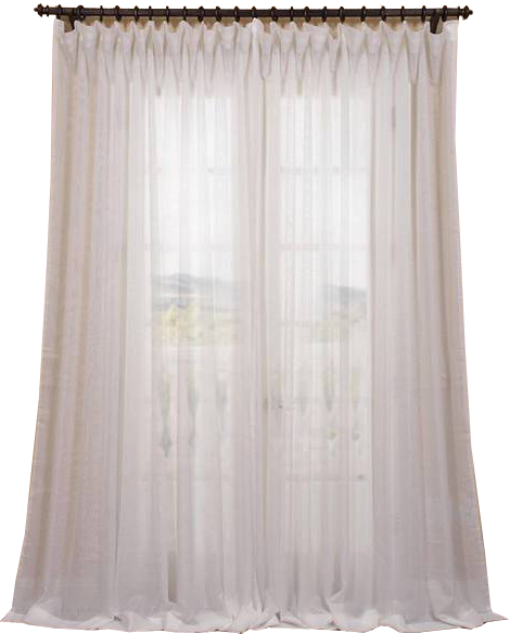 Exclusive Fabrics Signature Off White Extra Wide Double Layer Sheer Curtain Panel 100x96 Decorist