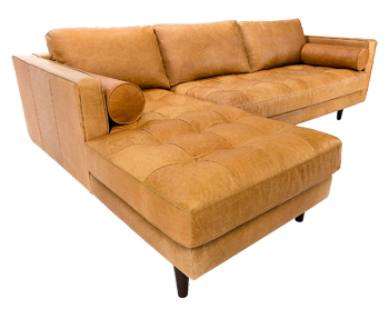 Sven Charme Tan Left Sectional Sofa Decorist