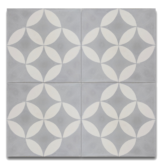 Pack Of 12 Amlo Grey And White Handmade Cement And Granite Moroccan 8 X 8 Inch Floor And Wall Tile Morocco