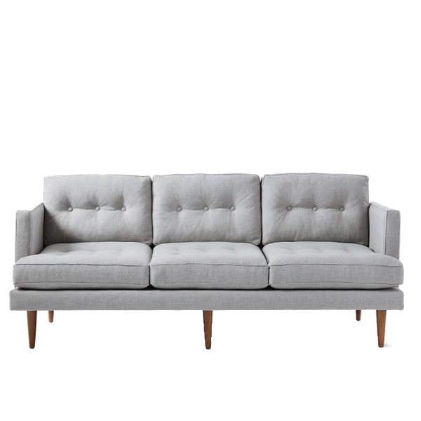 Strange Peggy Mid Century Sofa 79 5 Sofa Heathered Crosshatch Feather Gray Ocoug Best Dining Table And Chair Ideas Images Ocougorg
