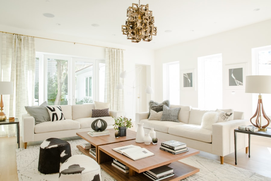 Warm and Neutral Living Room With Texture