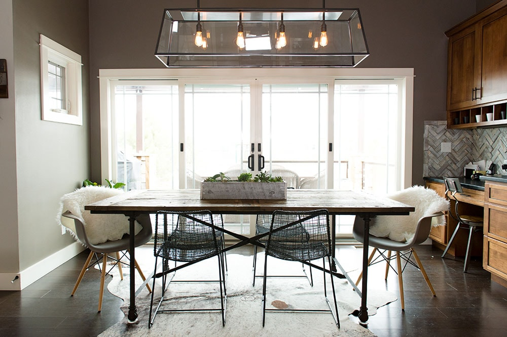 Modern Dark Scandanavian Style Dining Room